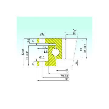 54406+U406 NKE Druckkugellager