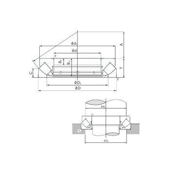 23132EAKW33 SNR Druckrollenlager